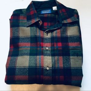 Pendleton VTG Oversized Wool Flannel Shirt